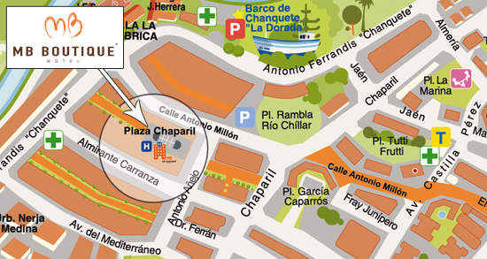 map-MB Boutique Hotel